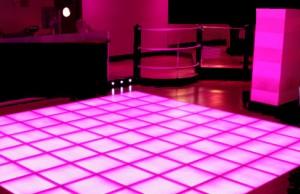 Roze dansvloer