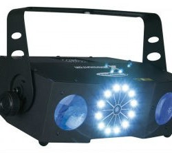 Showtec X-Terminator - twee moonflowers en een 2-kleurige laser ineen