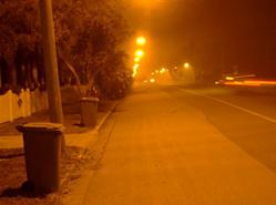 Oranje straatverlichting